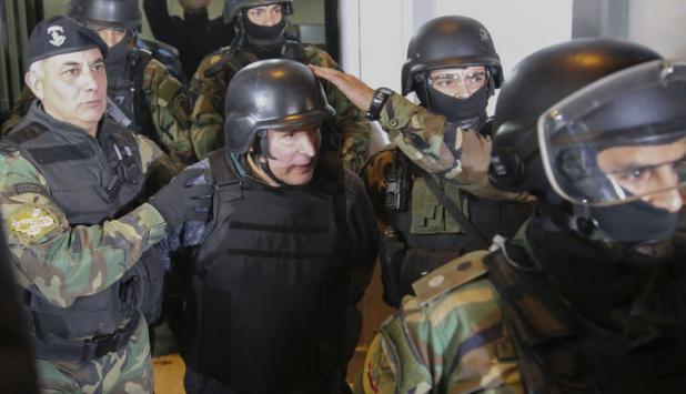 Traslado de José López. Foto: AFP.