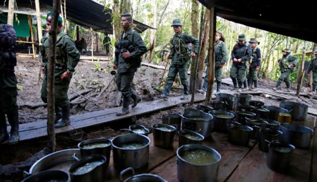 Miembros de las FARC en la Cordillera Oriental,. Foto: Reuters.