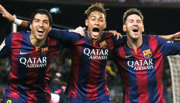 El tridente de Barcelona: Suárez, Neymar y Messi. Foto: Archivo El País.