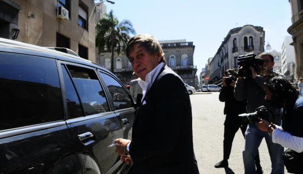 Paco Casal llegando al juzgado. Foto: Marcelo Bonjour