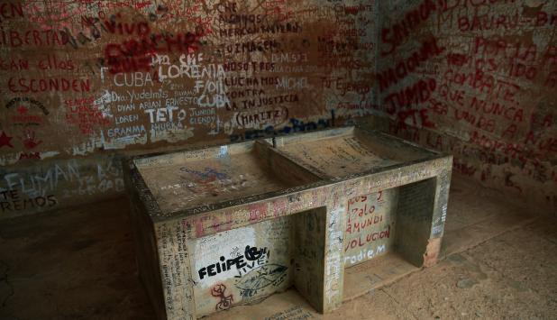 El lavadero donde fue expuesto el cuerpo de Ernesto Che Guevara. Foto: Reuters