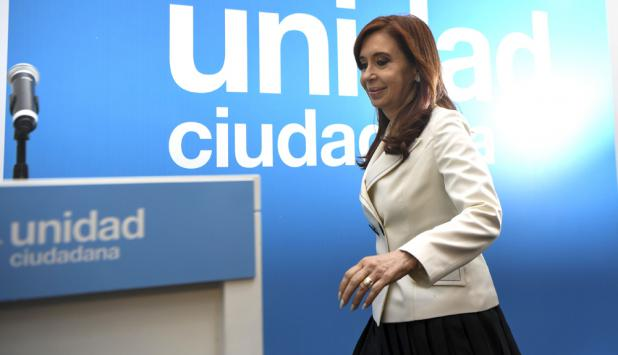 """A 12 días de las legislativas, la expresidenta de presenta como """"perseguida"""". Foto: AFP"""