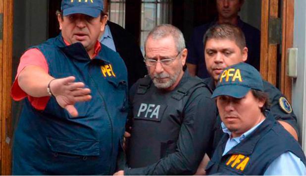 Ricardo Jaime cuando fue detenido en Córdoba. Foto: La Nación   GDA