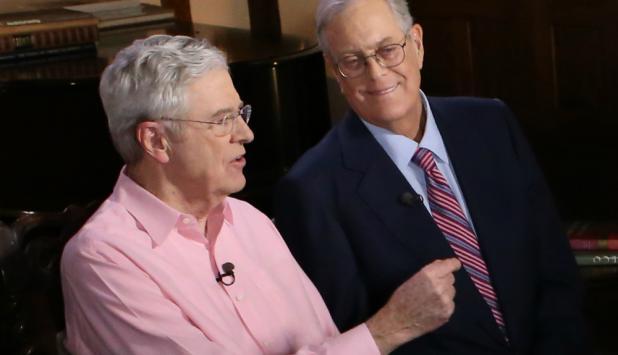 Charles y David Koch. Foto: MSNBC.