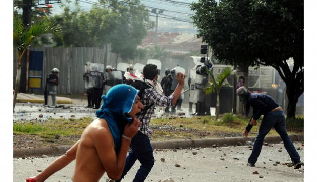 Protestas por el resultado de las elecciones en Honduras.