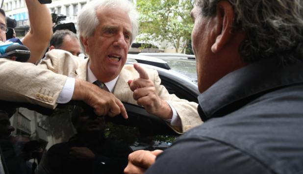 Vázquez mantuvo una durísima discusión con el colono Gabriel Arrieta de Kiyú. Foto: A. Colmegna