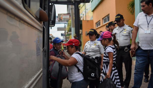 Migrantes de honduras. Foto: AFP