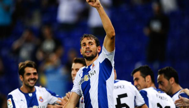 Stuani en el Espanyol. Foto: Getty Images.