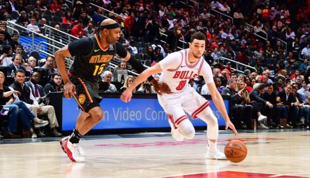 Zach LaVine en el partido de los Chicago Bulls