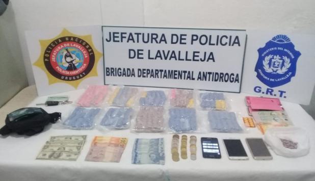 10.000 pastillas de éxtasis incautadas en un control de ruta. Foto: Ministerio del Interior.