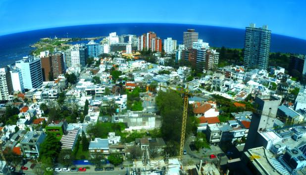Vista aérea de Montevideo. Foto: Gerardo Pérez
