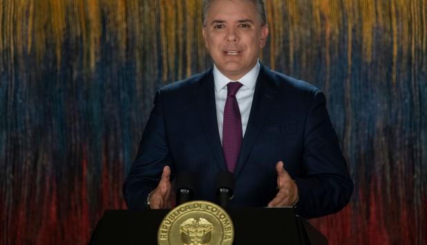 Iván Duque, presidente de Colombia. Foto: AFP