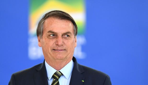 Jair Bolsonaro, este lunes en un acto en Brasilia. Foto: AFP