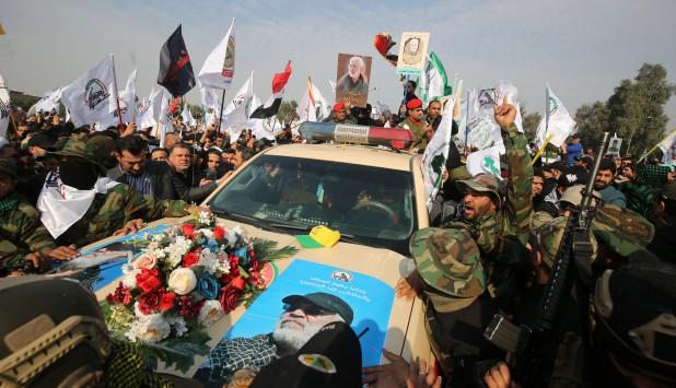 Funeral del general iraní Suleimani. Foto: AFP