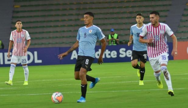 Carlos Benavídez en el encuentro entre Uruguay y Paraguay. Foto: AUF.