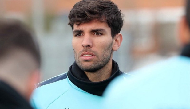 Leandro Cabrera durante su primer entrenamiento en el Espanyol. Foto: @RCDEspanyol