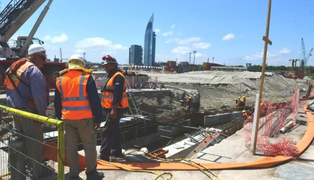 Obras en el Puerto de Montevideo. Foto: Francisco Flores