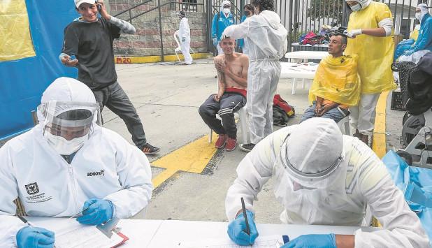 COVID-19 en Colombia. Foto: AFP