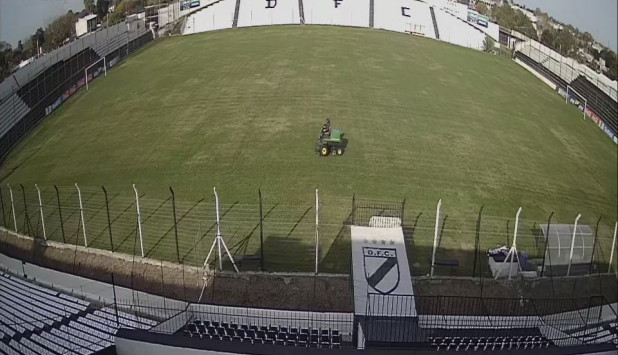 Así está Jardines del Hipódromo, el estadio de Danubio. Foto: Danubio FC.