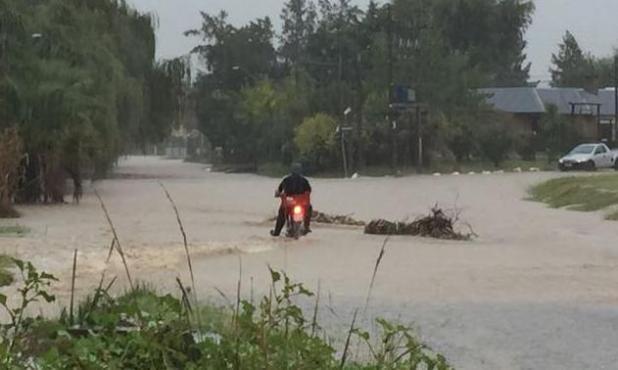 Inundaciones en Maldonado. Foto: Ricardo Figueredo
