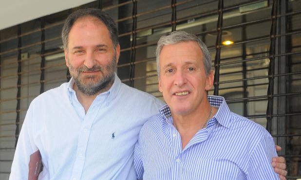 Fórmula ganadora. Con  Walter Pereyra, su futuro vice.