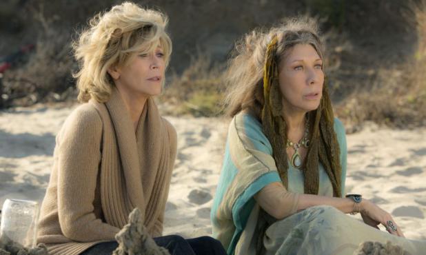 "Jane Fonda y Lily Tomlin en ""Grace and Frankie"". Foto:  Melissa Moseley"