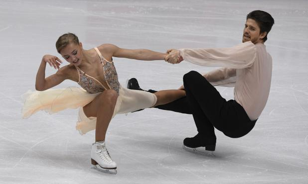 Alexandra Stepanova e Ivan Bukin locatarios en el campeonato en Rusia. Foto: Reuters