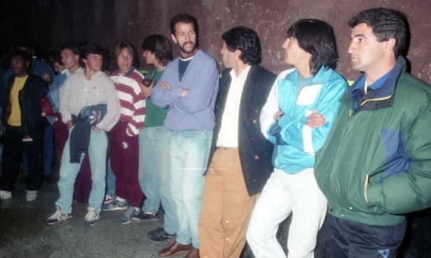 Hugo De León, Juan Ramón Carrasco, Fernando Barboza y Ariel Krasouski en 1992.