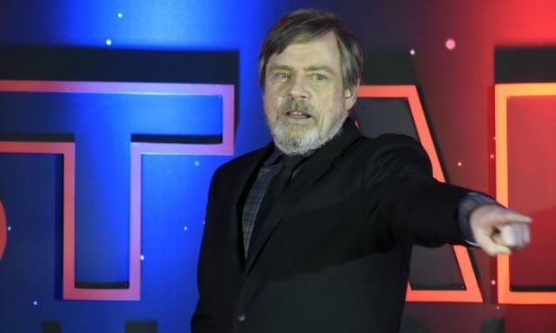 Mark Hamill en la presentación de la nueva Star Wars
