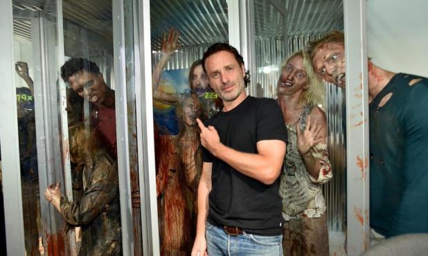 "Andrew Lincoln en un detrás de cámaras de ""The Walking Dead"""