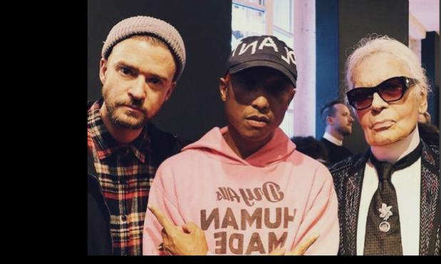 Timberlake, Williams y Lagerfeld en París