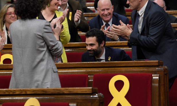 "Torrent: nuevo presidente del ""parlament"". Foto: AFP"