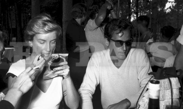 Mirtha Legrand y Alberto de Mendoza en una cena del festival. Foto: Archivo El País