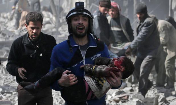 En la zona de Guta hay unas 400.000 personas por los ataques del régimen. Foto: AFP