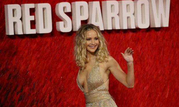 Jennifer Lawrence en la presentación de la película Operación Red Sparrow en Londres