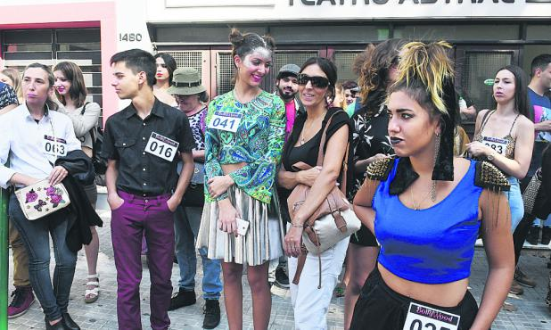 Participantes del cásting de Bollywood.