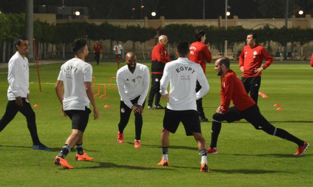 El entrenamiento de la selección de Egipto en El Cairo. Foto: @EFA