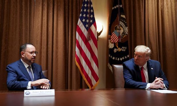Trump y Robert Unanue