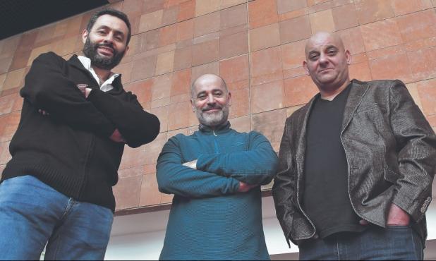 Gabriel Melgarejo, Edú Lombardo y Marcel Keoroglian. Foto: Leonardo Mainé.