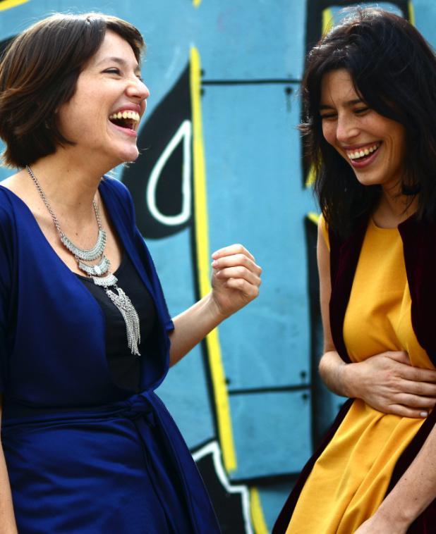 Carolina Domínguez y Camila Cibils.