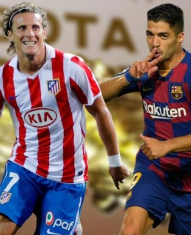 Diego Forlán y Luis Suárez la rompieron con las camisetas del Atlético y de Barcelona.