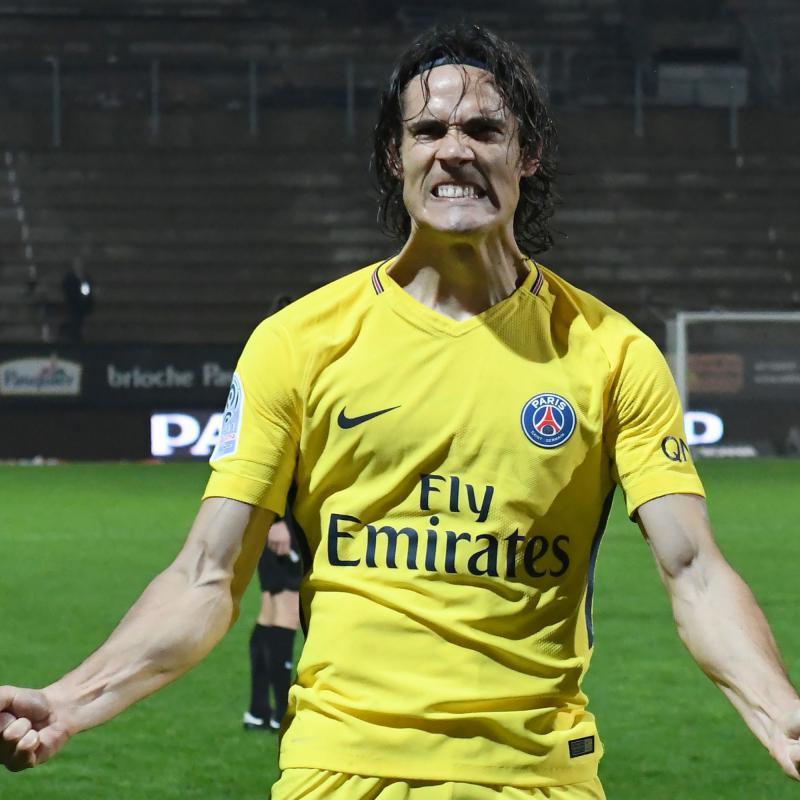 Cavani alcanza la barrera de los 100 goles en la liga francesa