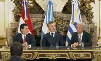 Cartes, Macri y Vázquez