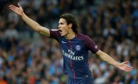 El enojo de Edinson Cavani en el partido del Paris Saint-Germain. Foto: Reuters