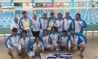 Celestes. Jugadores y cuerpo técnico, medallas y trofeos.