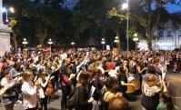 Movilización en 18 de Julio por el crimen de Brissa González. Foto: El País