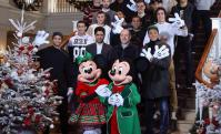 El PSG festeja la navidad en Disney. Foto: PSG