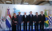 Vázquez, Temer, Macri y Cartes en la cumbre de la OMC. Foto: Presidencia.