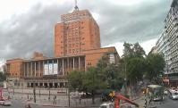 Tormenta sobre la Intendencia de Montevideo. Foto: Captura