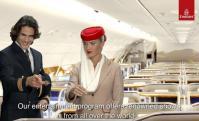 Cavani en la publicidad de Fly Emirates. Foto: Captura